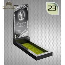 """Памятник из гранита """"Клипарт"""" с оформлением 23 — ritualum.ru"""