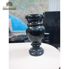 Ваза гранитная габбро (чёрная) 40 см. — ritualum.ru